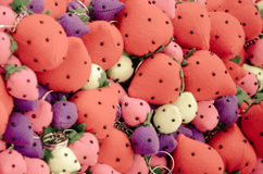 Colourful strawberries keychain Royalty Free Stock Photos
