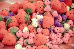 Colourful strawberries keychain Stock Photo