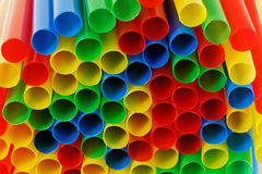 Colourful Straws Stock Photo