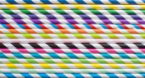 Colourful straws background Stock Photo
