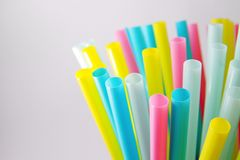 Colourful straws in many colours. Image of colourful straws in many colours Royalty Free Stock Photos