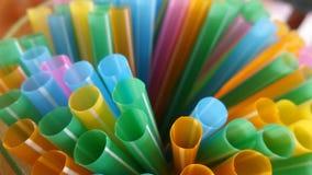 Colourful  straws Stock Photos
