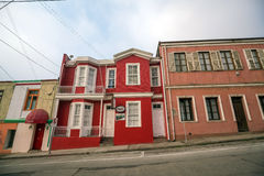 Colourful street art decorating houses in Valparaiso, Chile. Royalty Free Stock Photos