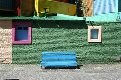 Colourful street in Boca. A colourful bench on the streets of Boca Argentina Stock Photography