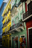 Colourful street in Old San Juan Puerto Rico Royalty Free Stock Image