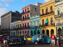 Colourful Street Scene In Havana Cuba Royalty Free Stock Image
