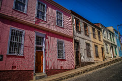 Colourful Street in Valparaiso Royalty Free Stock Photos