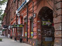 Colourful streets in Irkutsk Royalty Free Stock Photos
