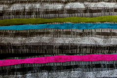 Colourful striped fabric Stock Image