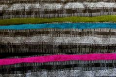 Colourful striped fabric Stock Image