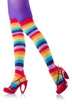 Colourful striped stockings Stock Photo