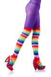 Colourful striped stockings Royalty Free Stock Images