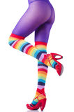 Colourful striped stockings Stock Image