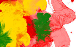 Colourful strokes on white canvas Royalty Free Stock Photography