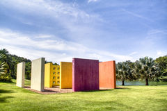 Colourful structure. At Inhotim, Brazil Royalty Free Stock Images