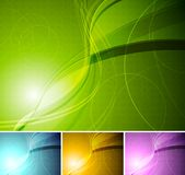 Colourful stylish backgrounds Royalty Free Stock Images