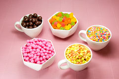 Colourful sugar candy snack Royalty Free Stock Image