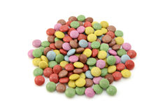 Colourful sugar-coated chocolate beans Royalty Free Stock Image