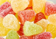 Colourful sugar coated sweets in a plate Stock Photo