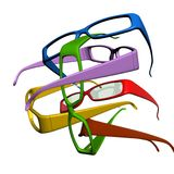 Colourful sun glasses on white background Royalty Free Stock Photography