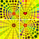 Colourful sunburst backgrounds Stock Photography