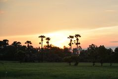 Colourful sunrise at dawn Stock Image