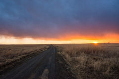 Colourful Sunrise in Kruger South Africa Stock Images