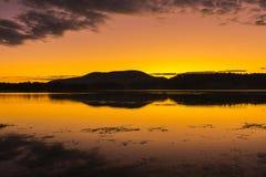 Colourful sunrise at Lake Moogerah in Queensland. Beautifully rich coloured sunrise at Lake Moogerah in Queensland, Australia Royalty Free Stock Photo