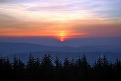 Colourful sunrise on mountains Royalty Free Stock Photo