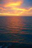 Colourful sunrise over atlantic ocean in playa del Ingles Stock Images