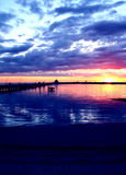 Colourful Sunset, Australia. Sun setting over St Kilda Pier, Melbourne, Australia Royalty Free Stock Images