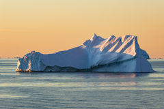 Colourful Sunset in Gerlache Strait Royalty Free Stock Photography
