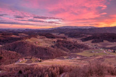 Colourful Sunset From Plač Tower Stock Images