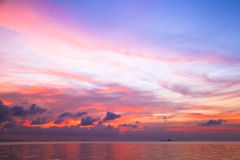Colourful sunset sky above the sea Stock Image