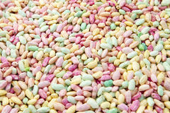Colourful and sweet puffed rice. Sweet puffed rice, colourfull, haealthy Stock Image