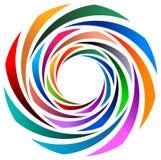 Colourful swirl. Isolated illustrated image Stock Image