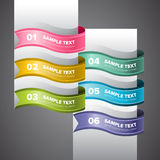 Colourful Swirl Labels Royalty Free Stock Image