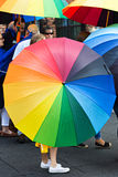 Colourful tęczy dumy parasol Zdjęcia Royalty Free