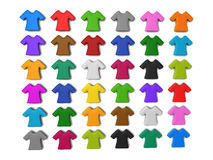 Colourful t-shirt icon background. Colourful t-shirt icon isolated white background add your copy text in white shirt Stock Photography