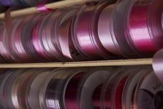 Colourful taśma i faborki zdjęcie stock