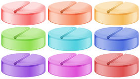 Colourful tablets Royalty Free Stock Images