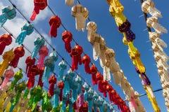 Colourful tajlandzka papierowych lampionów północ Thailand obrazy stock
