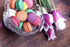 Colourful tasty macaroons - macarons Stock Image