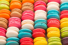 Colourful tasty macaroons Stock Photo