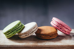 Colourful tasty macaroons Royalty Free Stock Photography