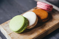 Colourful tasty macaroons Royalty Free Stock Images
