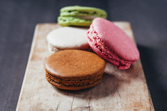 Colourful tasty macaroons Stock Photography