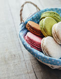 Colourful tasty macaroons Royalty Free Stock Photo