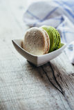 Colourful tasty macaroons Stock Images
