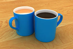 A Colourful Tea and Coffee Mug Illustration Royalty Free Stock Images